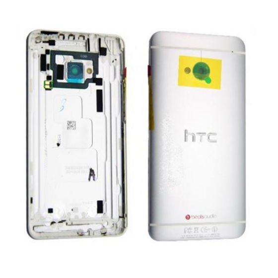 HTC M7 battery cover silver